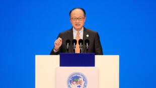 Chủ tịch World Bank, ông Jim Yong Kim phát biểu trong lễ khai mạc Hội chợ Xuất nhập khẩu Trung Quốc  (CIIE) lần thứ nhất tại Thượng Hải ngày 05/11/2018.