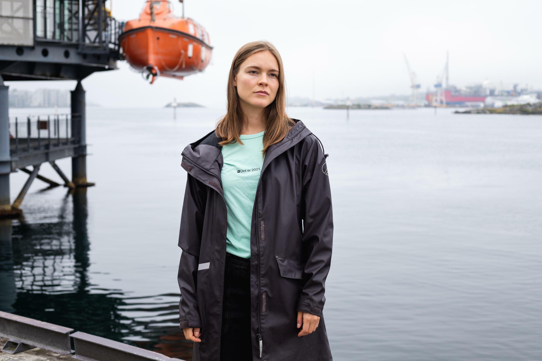 Ulrikke Torgersen, candidata del partido ecologista MDG en Stavanger, Noruega, el 30 de agosto de 2021