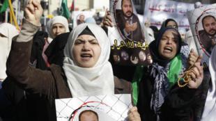 Des partisans des Frères musulmans manifestent le 28 novembre à Amman pour la libération de Zaki Bani Irsheid.