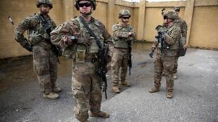 Soldats américains à Kirkouk, dans le nord de l'Irak, le 29 mars 2020.