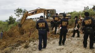 Scene of the murders in Maguindanao