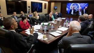 Situation Room at the White House during the Iran nuclear talks
