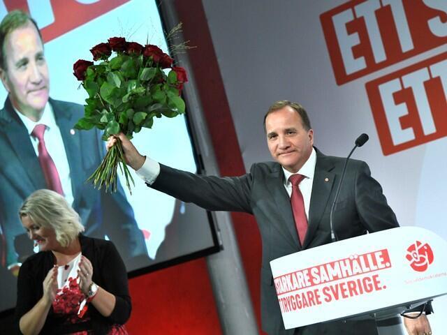 Thủ tướng mãn nhiệm và lãnh đạo đảng Xã Hội Dân Chủ Thụy Điển Stefan Lofven, Stockholm, 9/9/2018.