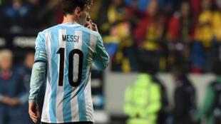 A Argentina, de Lionel Messi, quer chegar à final da Copa América.