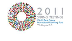 Logo de la reunión de 'Primavera 'del FMI y del Banco Mundial del 11 al 16 de abril de 2011.