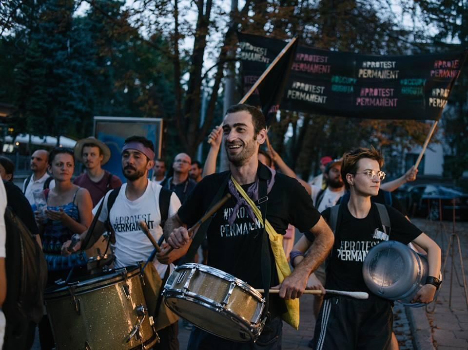 Активисты молодежного движения Occupy Guguță