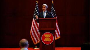 Ngoại trưởng Mỹ John Kerry họp báo sau cuộc họp với ngoại trưởng các nước ASEAN tại Vientiane, Lào, ngày 26/07/2016.