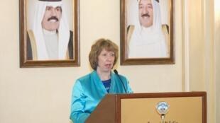 Глава европейской дипломатии Кэтрин Эштон в Кувейте 13/01/2014 (архив)
