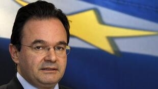 Le ministre grec des Finances, George Papaconstantinou.