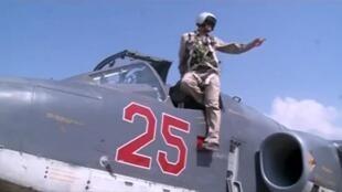 Một chiến đấu cơ Nga tại căn cứ quân sự Heymin, Syria.