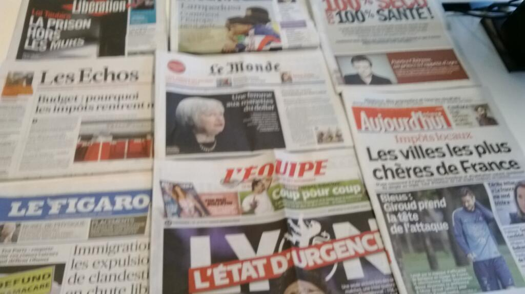 Diários franceses  09/10/2013