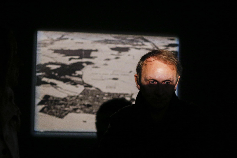 میشل ولبک در نمایشگاه آثارش در نیویورک، جمعه دوم ژوئن