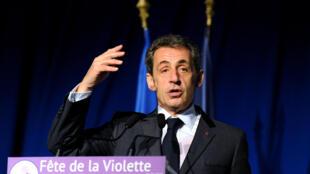 Nicolas Sarkozy, antigo presidente e líder do partido de direita, os Republicanos.