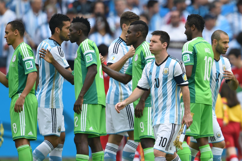 Lors du match Nigeria-Argentine de la Coupe du monde 2014.