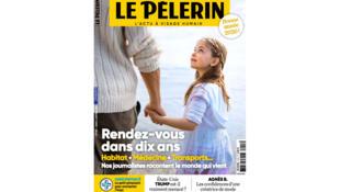 La couverture du magazine Le Pèlerin du début d'année 2020.