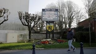 The town centre of Crépy-en-Valois, the first area in France to declare a cluster of coronavirus. March 2020