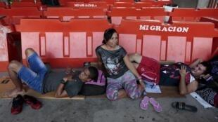 Migrantes cubanos bloqueados en Costa Rica el pasado 24 de diciembre 2015