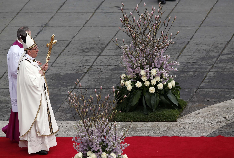 Đức Giáo hoàng Phanxico trong ngày lễ Phục sinh 2013. Ảnh chụp ngày 31/03/2013