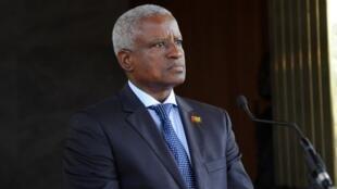 O presidente de transição da Guiné-Bissau, Serifo Nhamadjo.