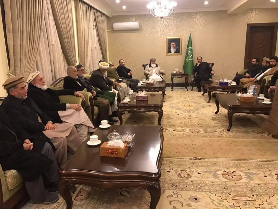 تصویری از آخرین جلسه اعضای رهبری جمعیت اسلامی در  کابل.