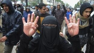 Manifestantes pro Mursi, el pasado 13 de diciembre en El Cairo.