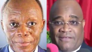 Général Jean-Marie Michel Mokoko (G) et André Okombi Salissa (D), candidats à la présidentielle du 20 mars 2016 au Congo-Brazzaville.
