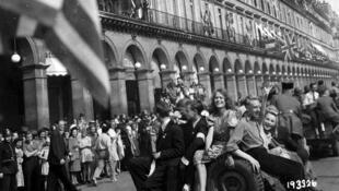 La libération de Paris, en 1945.