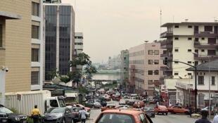 Quartier du Plateau à Abidjan, en Côte d'Ivoire.