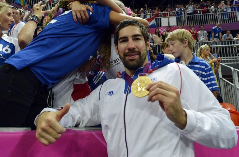 Nikola Karabatic après son titre olympique en 2012.
