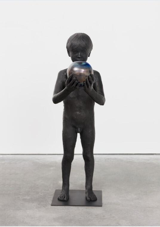 Untitled, 2019 by French artist Laurent Grasso, made from bronze and glass, is on display at the Musée Zadkine in Paris for the Nuit Blanche October 2020. Photo Claire Dorn, courtesy of the artist and Perrotin
