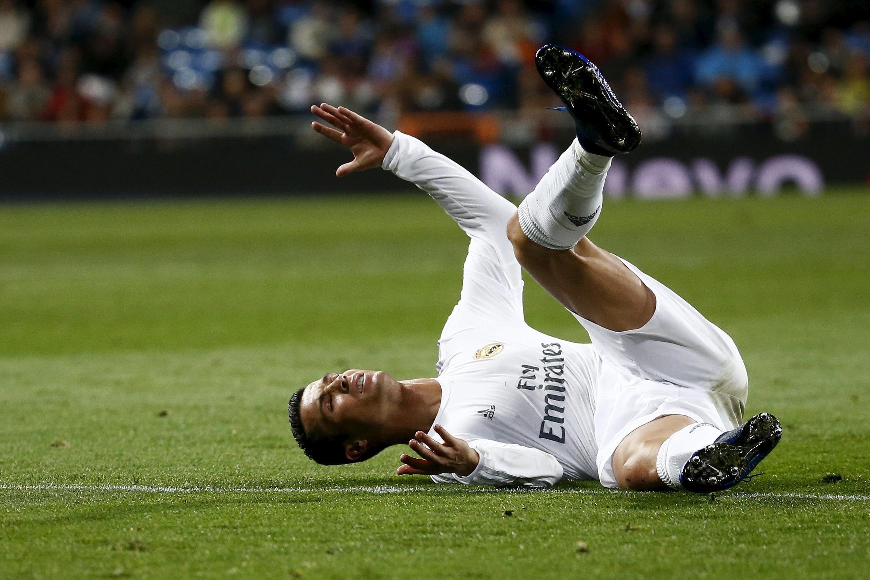 Cristiano Ronaldo kiungo wa Real Madrid akifurahia ushindi wao dhidi ya Man City.