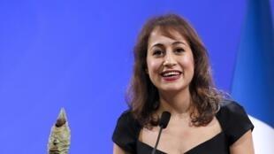 Amira Yahyaoui, lauréate du prix de la Fondation Chirac 2014.