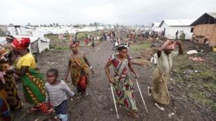 Un camp de réfugiés près de Goma, dans l'est de la RDC, en 2012.