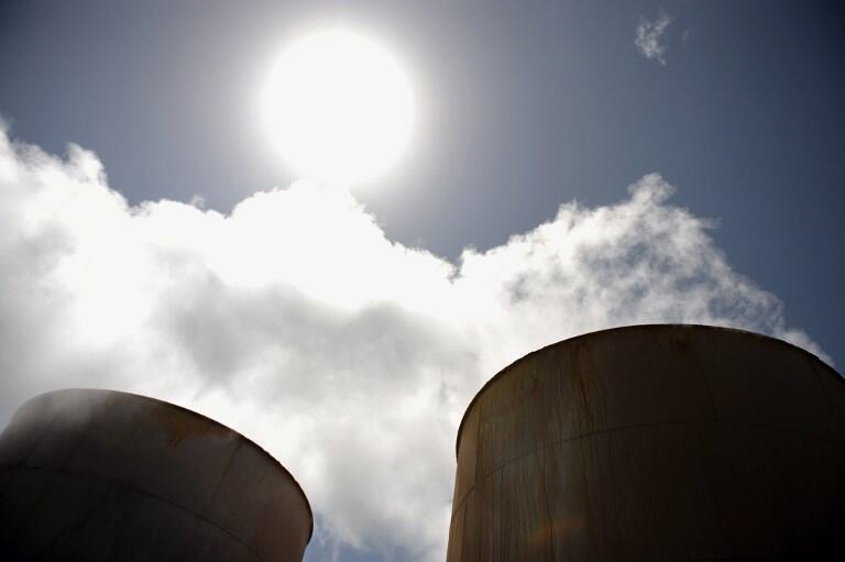 Des puits dans l'une des quatre usines de production d'électricité par la géothermie à Olkaria, au Kenya.