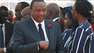 Le président Kenyatta à Nairobi, le 11 février 2020.