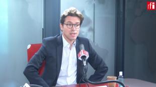 Geoffroy Didier, députée européen du Parti populaire européen (PPE) dans les studios de RFI, le 01 juillet 2020.