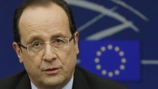 François Hollande au Parlement européen, le 5 février 2013.