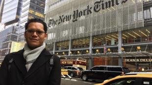 El periodista Sinar Alvarado.