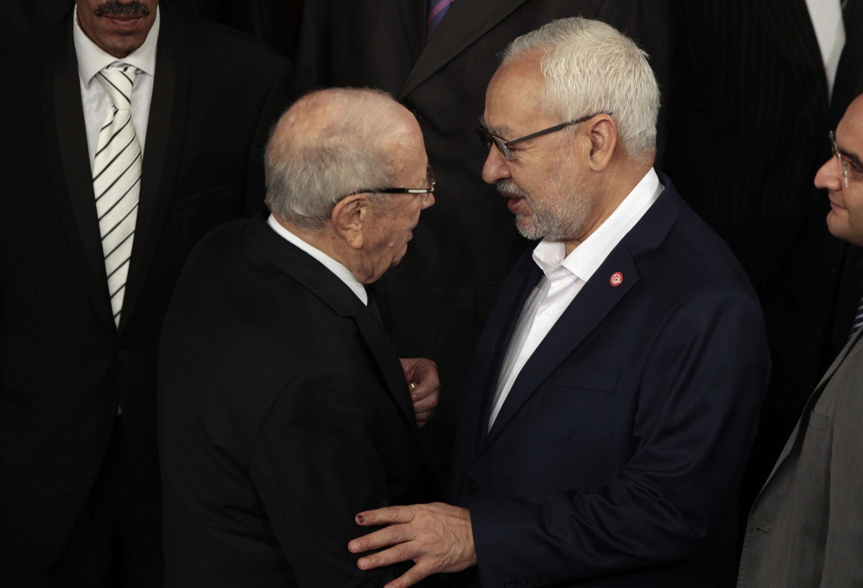 Beji Caïd Essebsi et Rached Ghannouchi se renvoient la responsabilité de la montée du jihadisme en Tunisie.