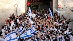 Porte de Damas, à Jérusalem, le 2 juin 2019.