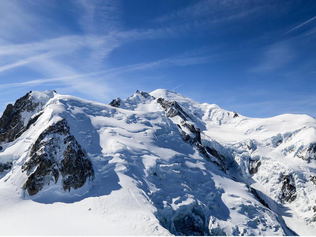Mighty, majestic Mont Blanc, Europe's highest peak.