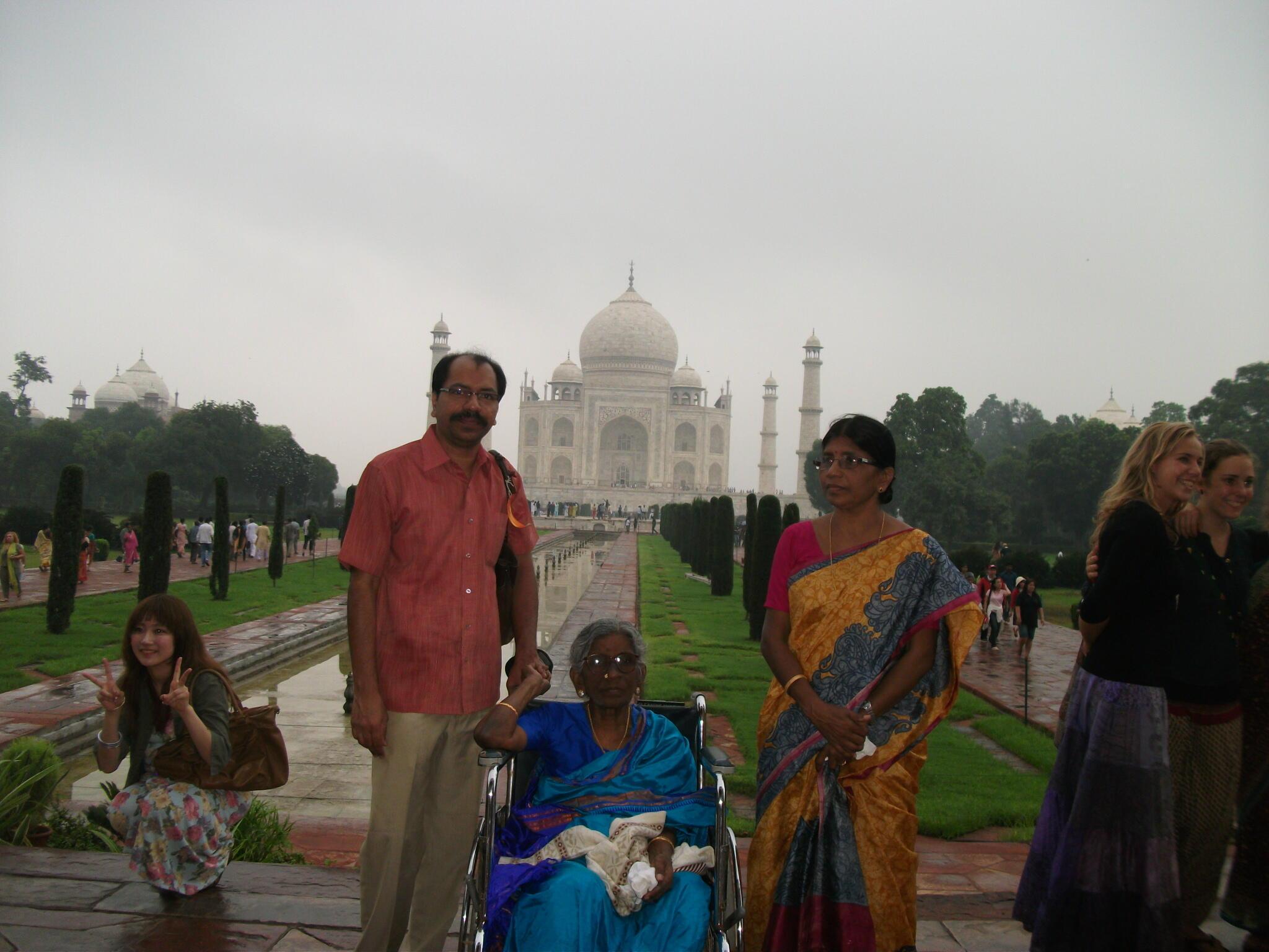 Dr N Hemalatha and Nomula Srinivas Rao, with their mother
