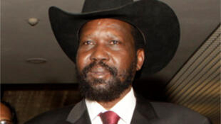 South Sudan President Salva Kiir at the African Union summit, in Ethiopia