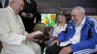 Encontro entre o Papa Francisco e o ex-presidente cubano Fidel Castro