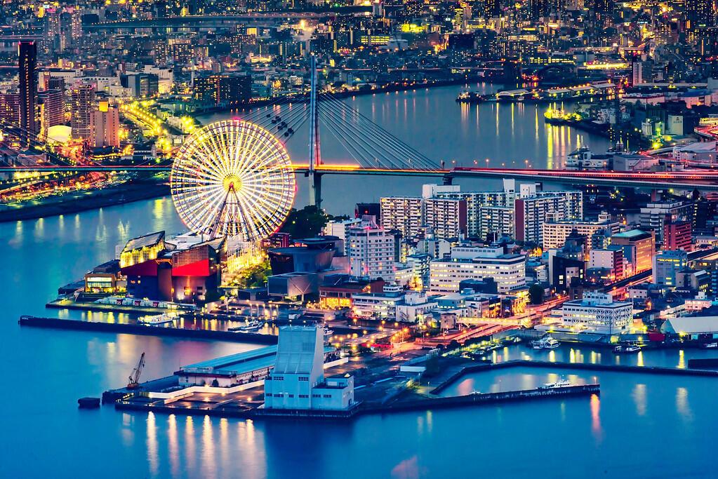 日本大阪晚景