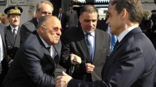 President Nicolas Sarkozy at the Paris mosque on 14 March