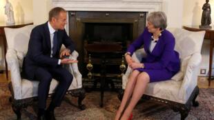 英国首相与欧盟理事会主席在唐宁街十号会晤 2018年3月1日