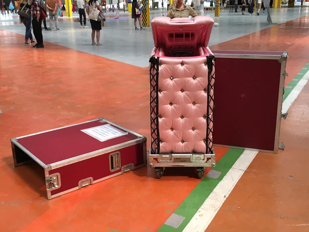 """Máquina de lavar """"vestida"""" de seda rosa é homenagem à Chantal Thomass"""