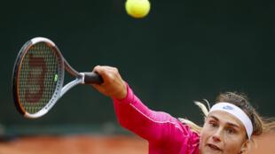 La Bélarusse Aryna Sabalenka lors du 3e tour du tournoi de Roland-Garros, le 3 octobre 2020