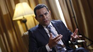 Jimmy Morales, nouveau président du Guatemala.